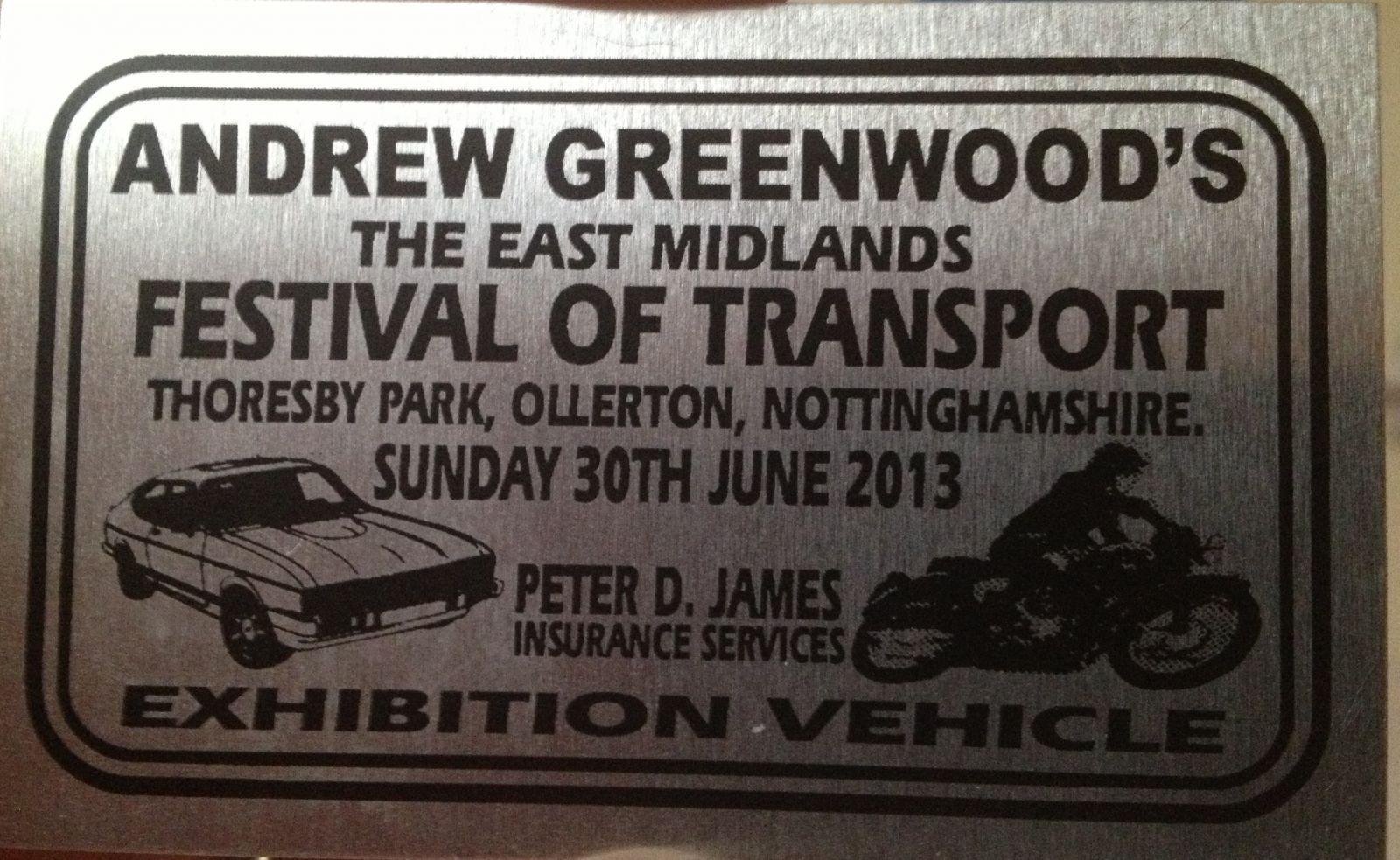 Exhibition vehicle badge car gets