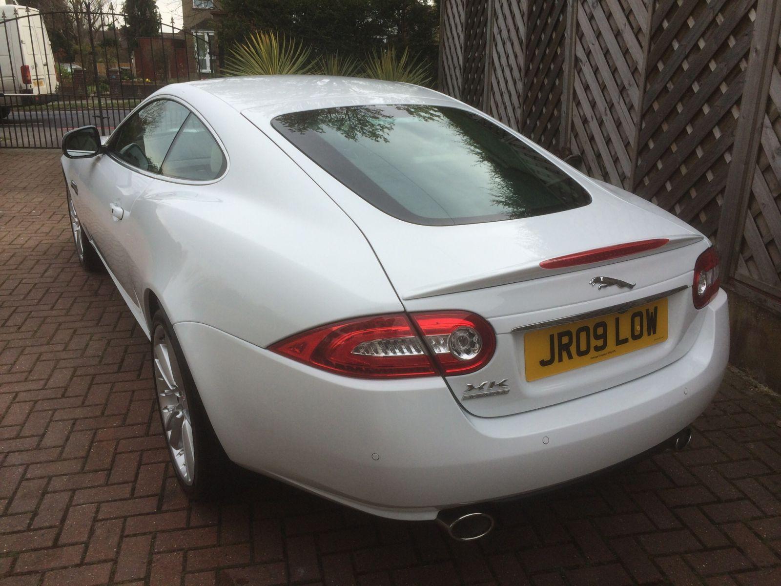 Jaguar Owners Club on rear screen