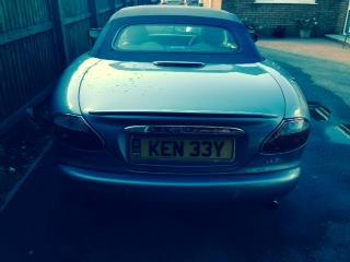 Jaguar Number Rear Plate