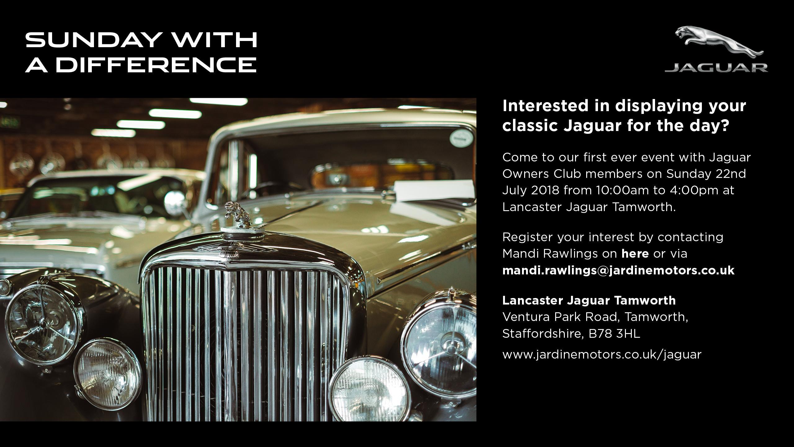 Jaguar Tamworth Owners Club Event